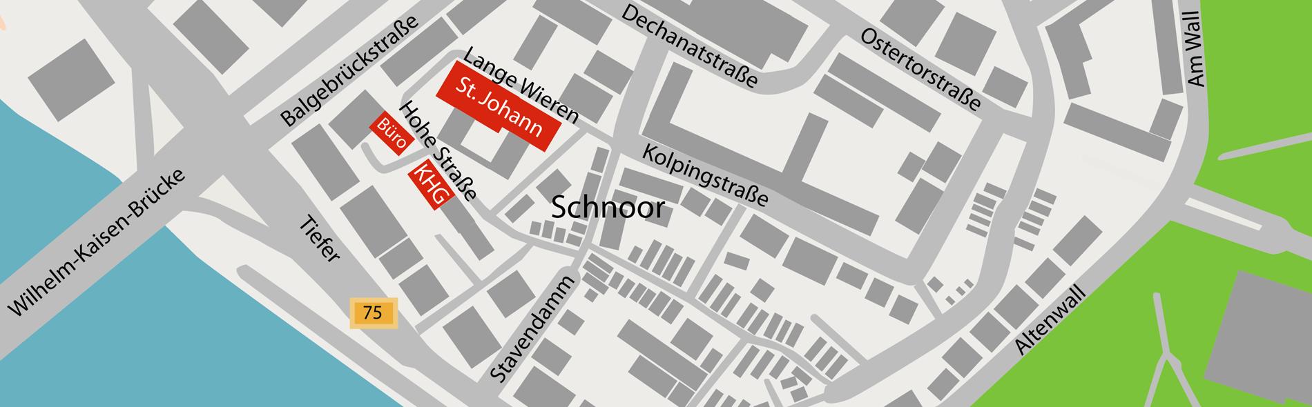 KHG Bremen, Lageplan