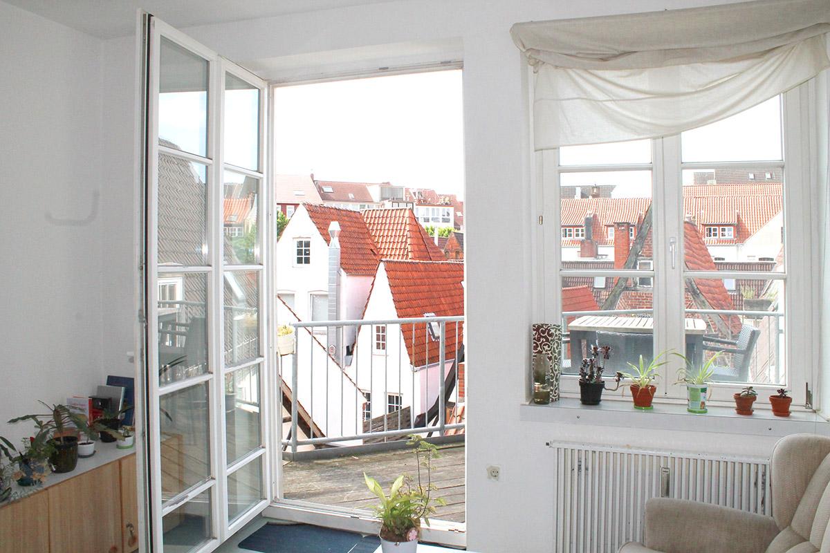 Blick auf die Dachterrasse